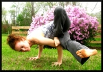 Challenging Yoga Arm Balance