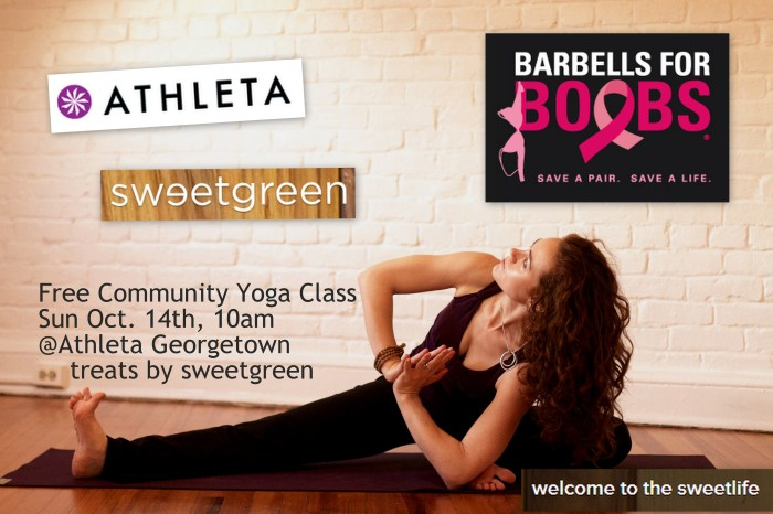 This Sunday: Free Yoga @Athleta_DC