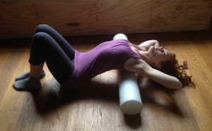 Foam Roll Thoracic Extension Exercise